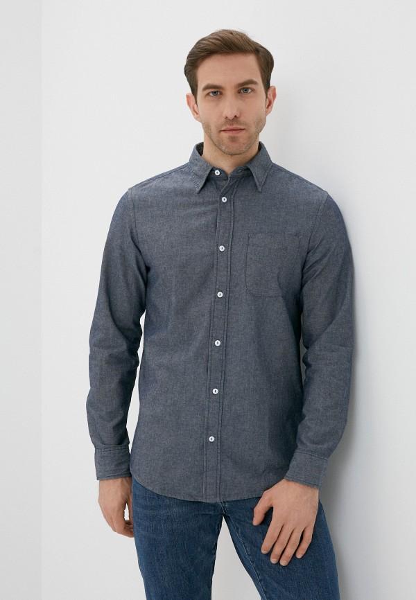 мужская джинсовые рубашка united colors of benetton, синяя
