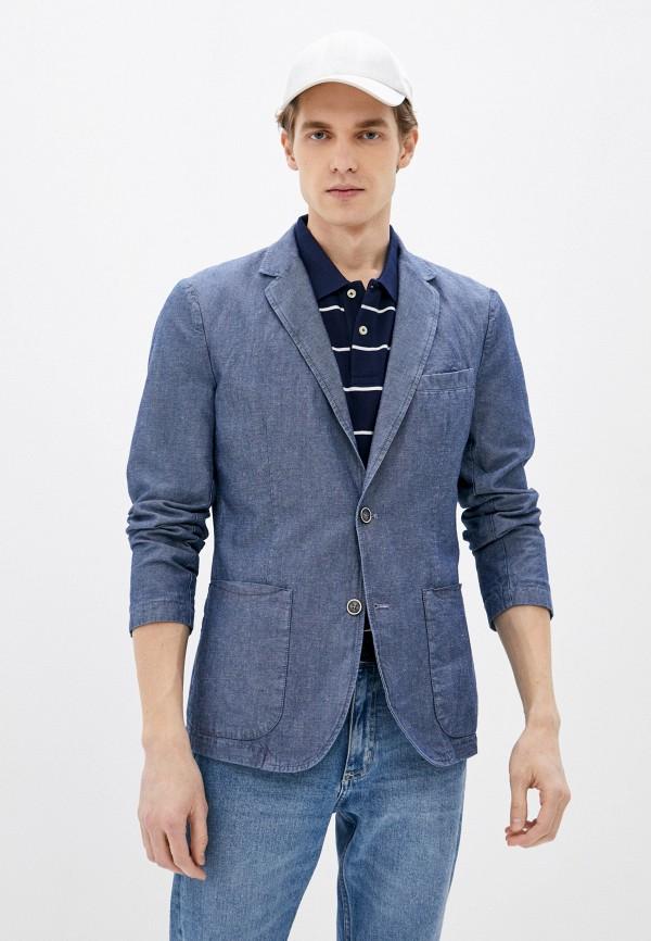 мужской пиджак united colors of benetton, голубой