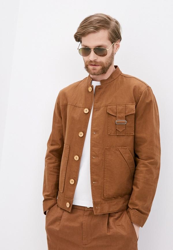мужская куртка united colors of benetton, коричневая