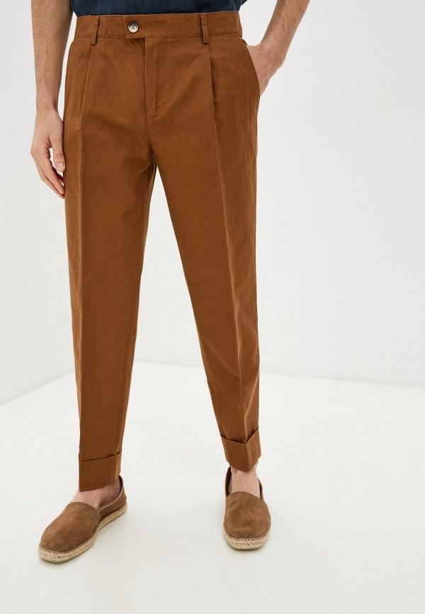 мужские повседневные брюки united colors of benetton, коричневые