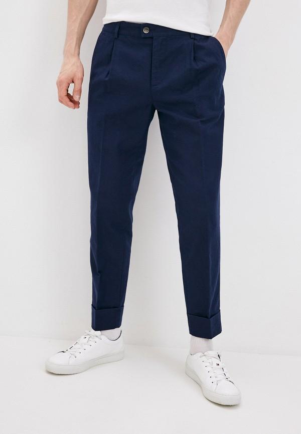 мужские зауженные брюки united colors of benetton, синие