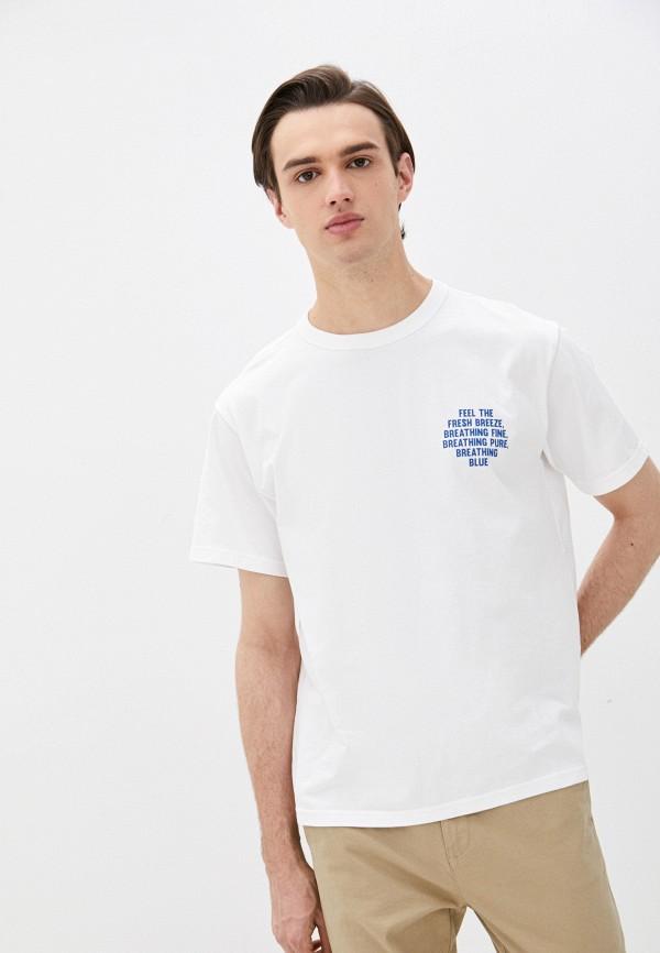 мужская футболка с коротким рукавом united colors of benetton, белая