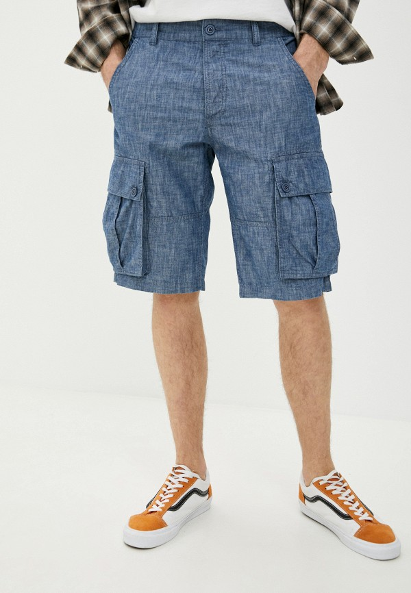 мужские джинсовые шорты united colors of benetton, синие