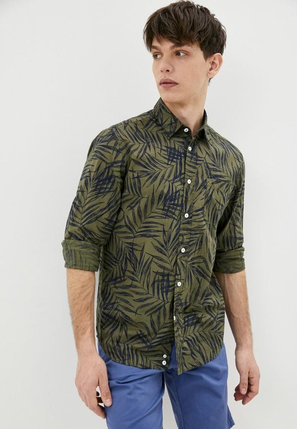 мужская рубашка с длинным рукавом united colors of benetton, хаки