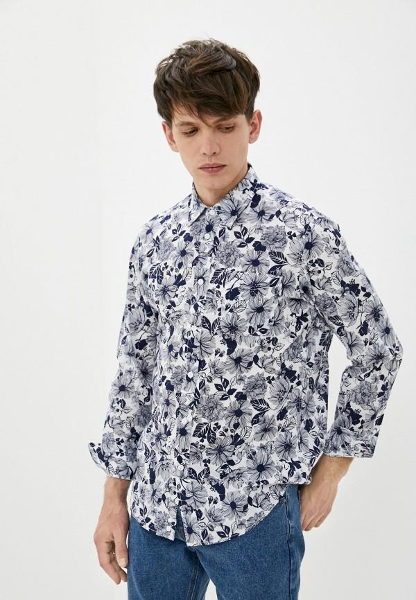 мужская рубашка с длинным рукавом united colors of benetton, синяя