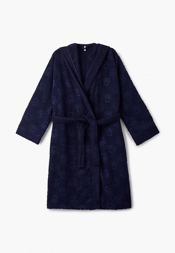 женский халат united colors of benetton, синий