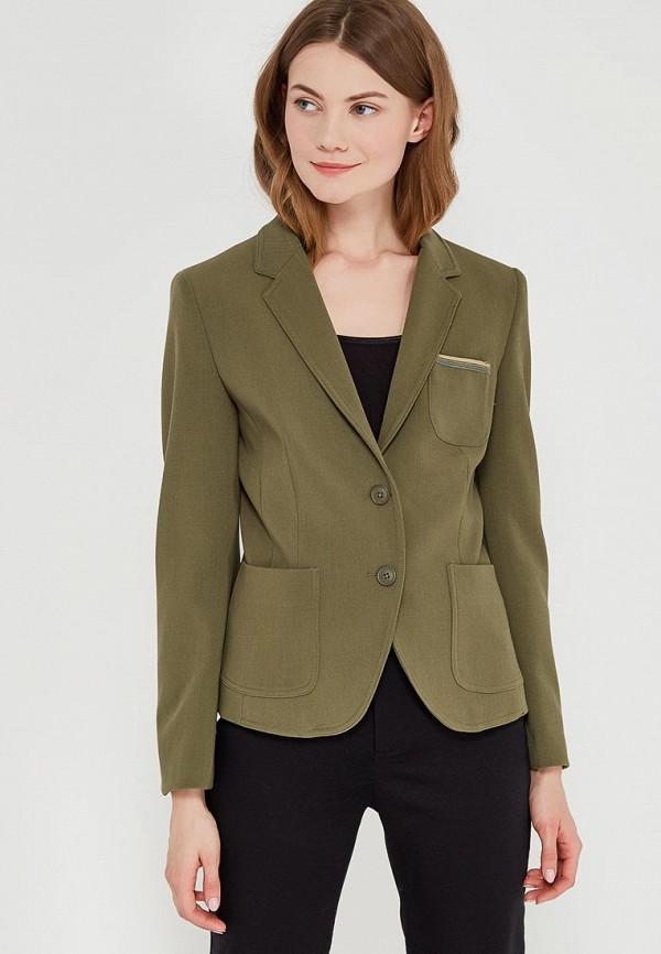женский пиджак united colors of benetton, хаки