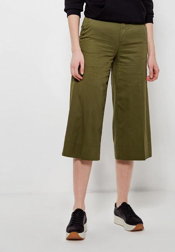 женские брюки клеш united colors of benetton, хаки
