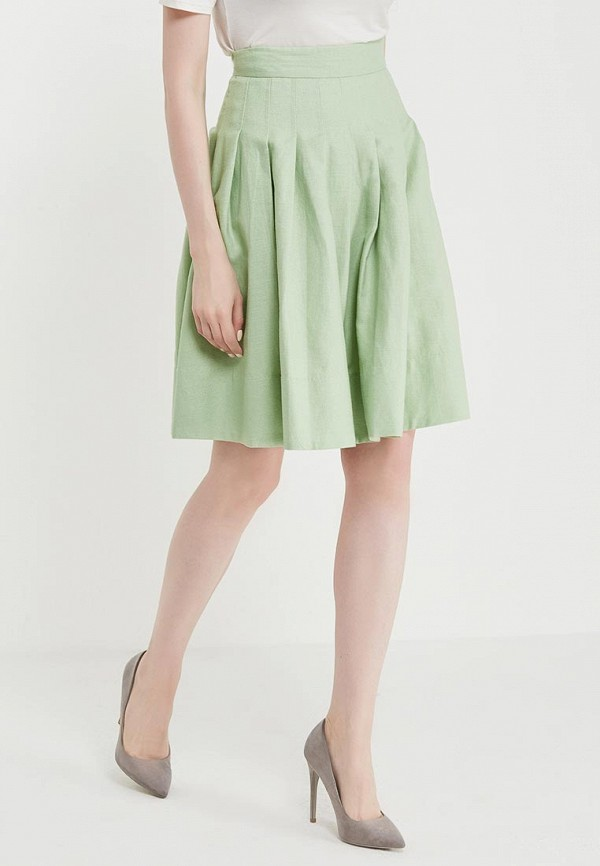 женская юбка united colors of benetton, зеленая