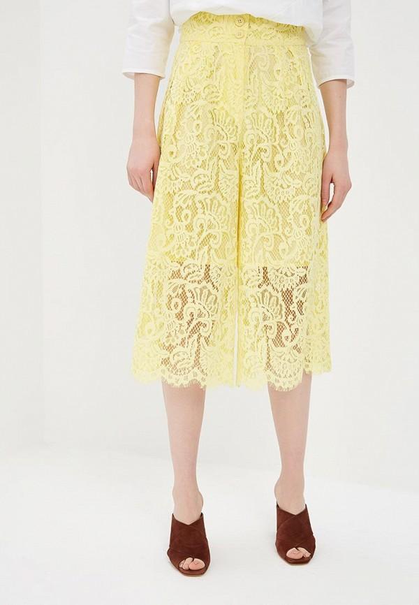 женские брюки united colors of benetton, желтые