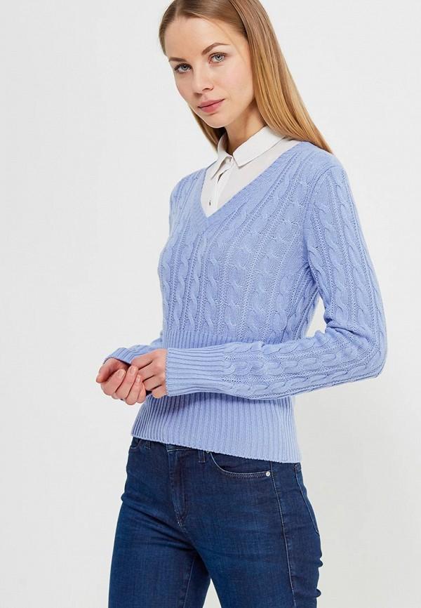 Фото - женский пуловер United Colors of Benetton голубого цвета