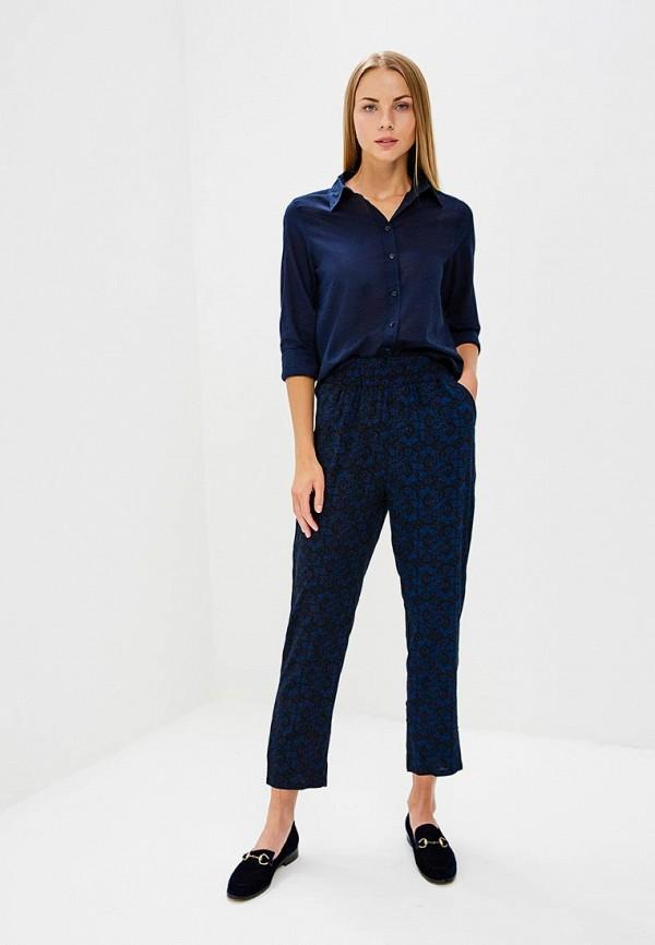 Фото 2 - женскую рубашку United Colors of Benetton синего цвета