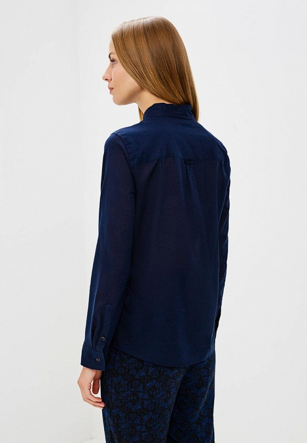 Фото 3 - женскую рубашку United Colors of Benetton синего цвета