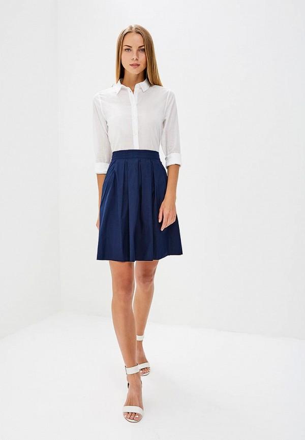 Фото 2 - женскую юбку United Colors of Benetton синего цвета