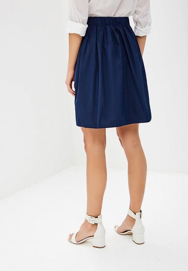 Фото 3 - женскую юбку United Colors of Benetton синего цвета