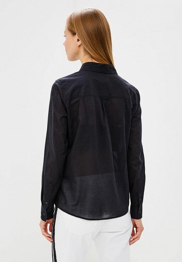 Фото 3 - женскую рубашку United Colors of Benetton черного цвета