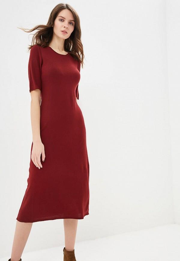 женское повседневные платье united colors of benetton, бордовое