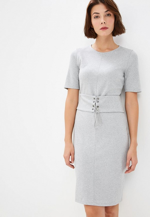 женское повседневные платье united colors of benetton, серое