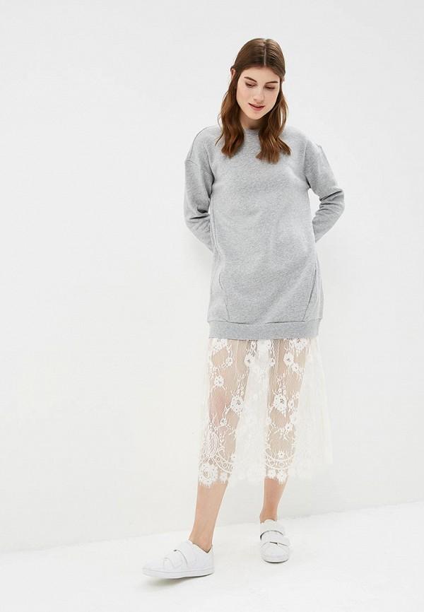 Купить Платье United Colors of Benetton, UN012EWBYKD1, серый, Осень-зима 2018/2019