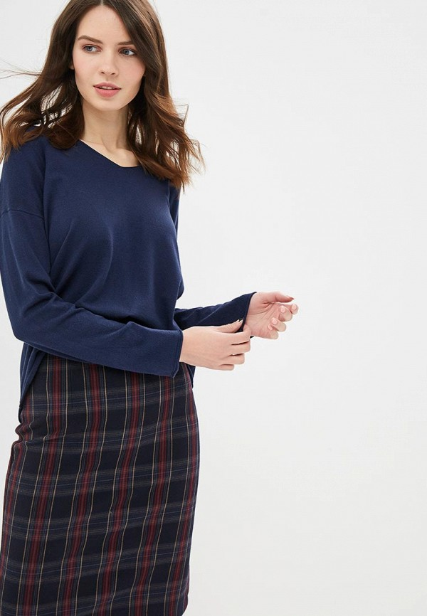 женский пуловер united colors of benetton, синий