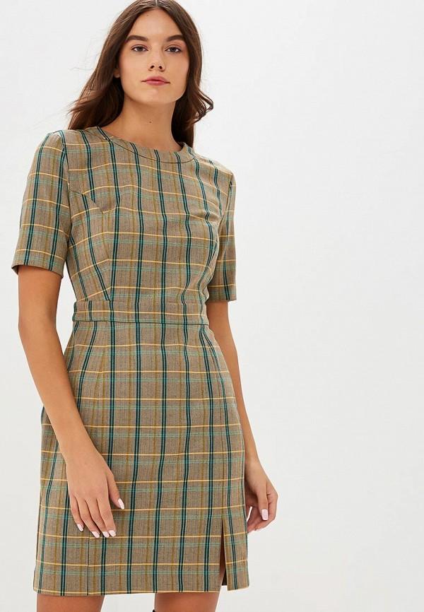 Купить Платье United Colors of Benetton, UN012EWBYLQ5, коричневый, Осень-зима 2018/2019