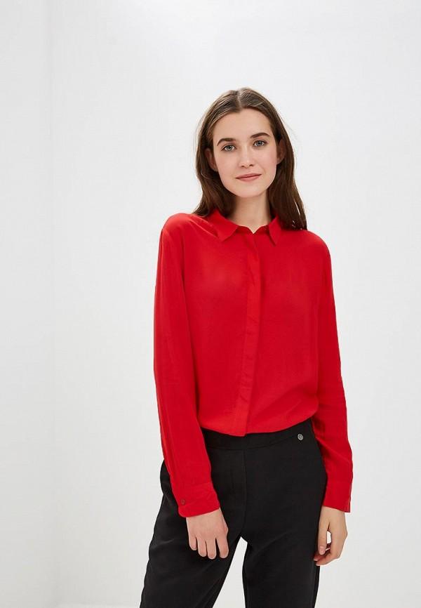 женская рубашка с длинным рукавом united colors of benetton, красная