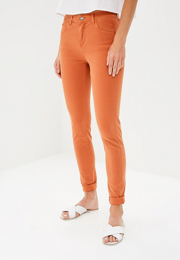 Фото - женские брюки United Colors of Benetton оранжевого цвета