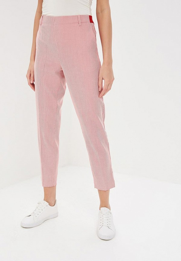 женские повседневные брюки united colors of benetton, красные