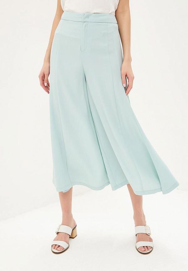 женские брюки united colors of benetton, бирюзовые