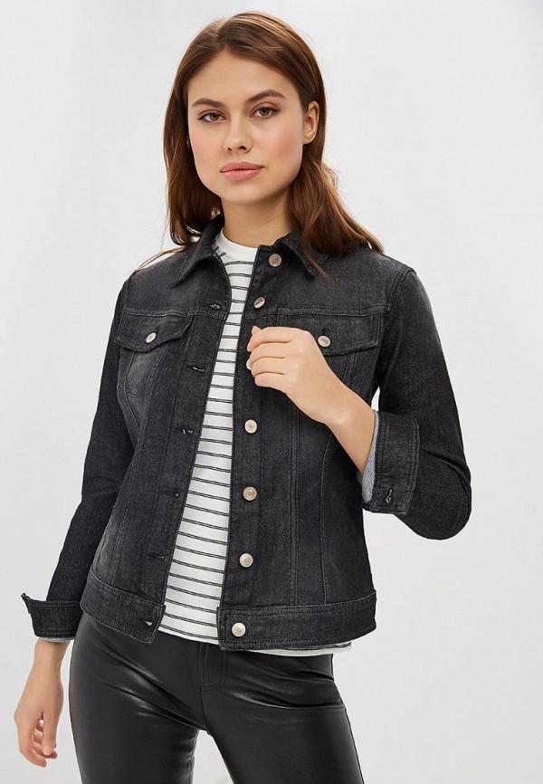 женская джинсовые куртка united colors of benetton, черная