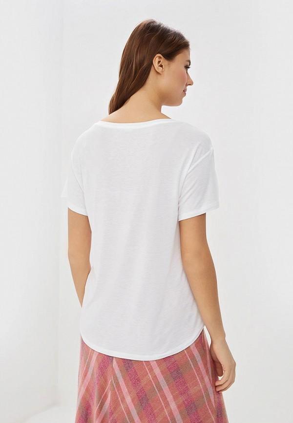 Фото 3 - женскую футболку United Colors of Benetton белого цвета