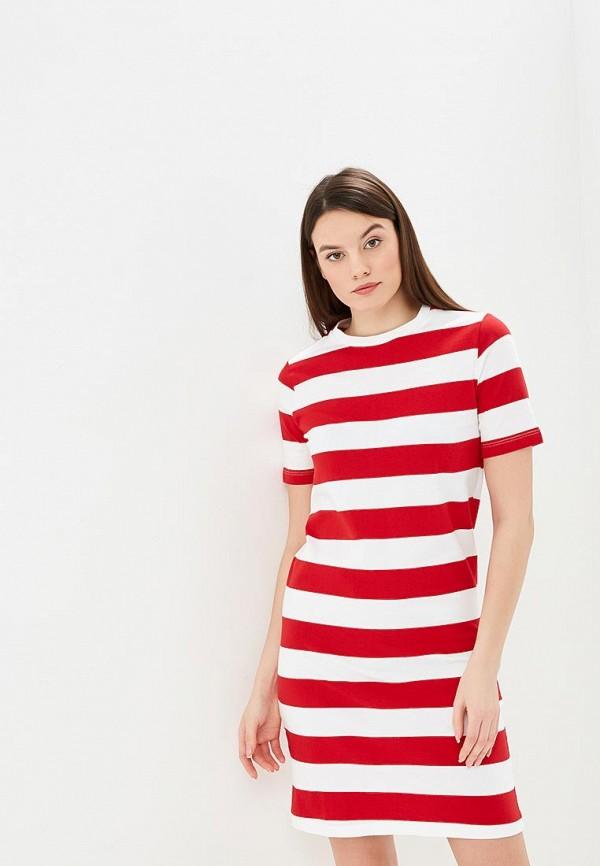 женское платье united colors of benetton, красное