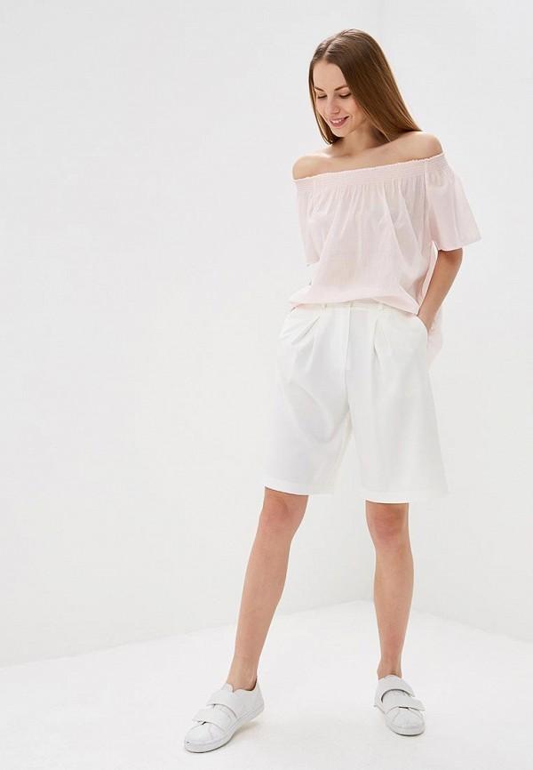 Фото 2 - женскую блузку United Colors of Benetton розового цвета