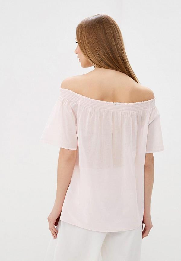 Фото 3 - женскую блузку United Colors of Benetton розового цвета