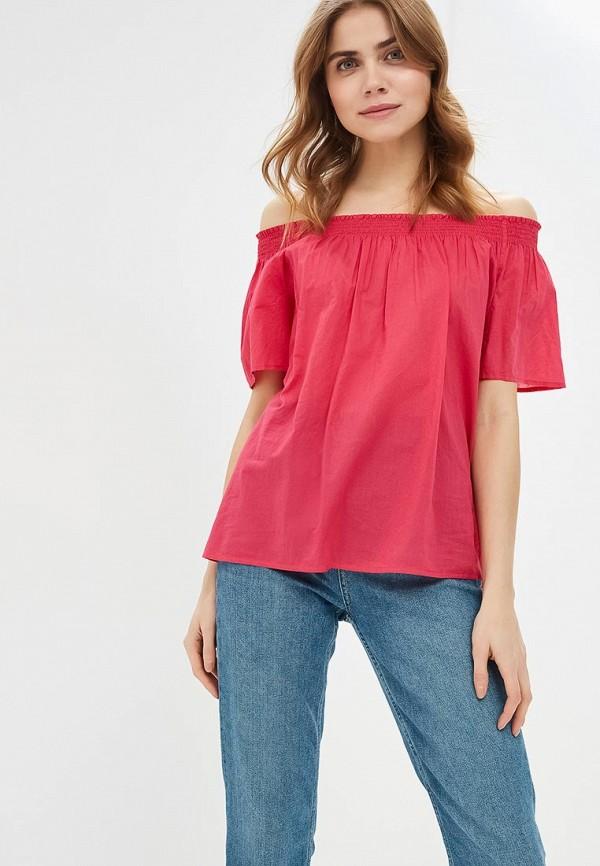 женская блузка united colors of benetton, розовая