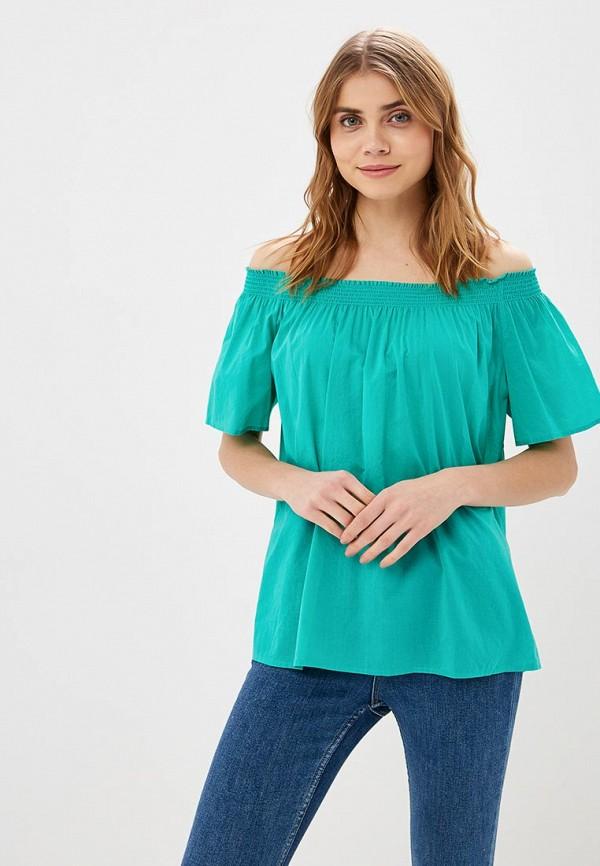 женская блузка united colors of benetton, зеленая