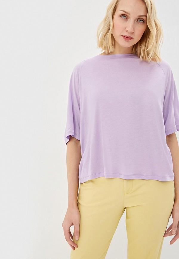 женский лонгслив united colors of benetton, фиолетовый