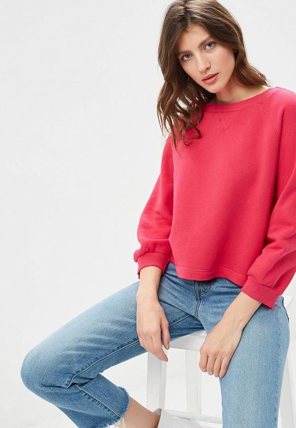 женский свитшот united colors of benetton, розовый