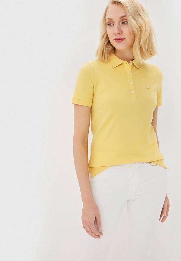 женское поло united colors of benetton, желтое