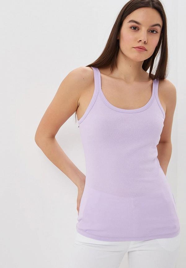 женская майка united colors of benetton, фиолетовая