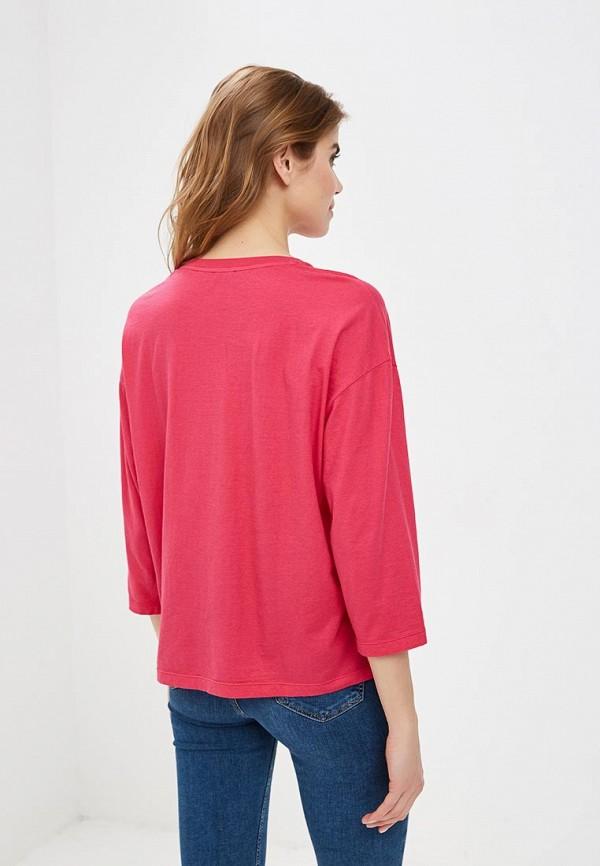 Фото 3 - Лонгслив United Colors of Benetton розового цвета