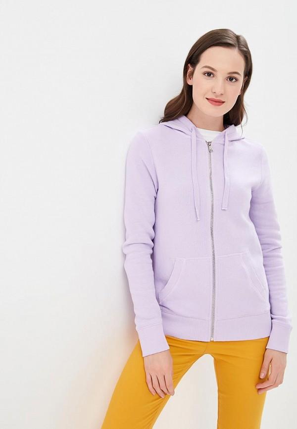 женская толстовка united colors of benetton, фиолетовая