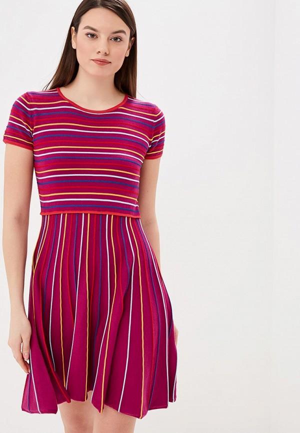 женское повседневные платье united colors of benetton, фиолетовое