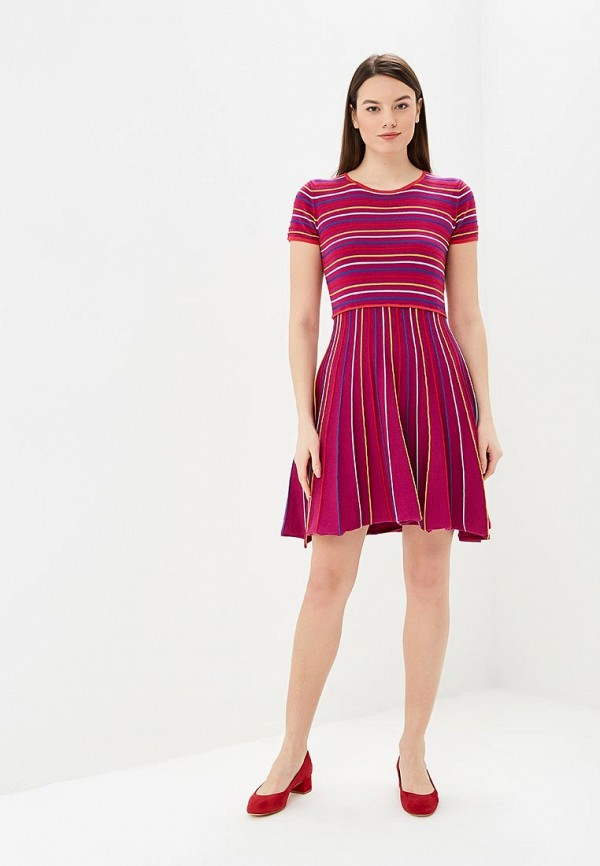 Фото 2 - женское платье United Colors of Benetton фиолетового цвета