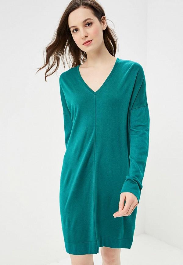 женское повседневные платье united colors of benetton, зеленое