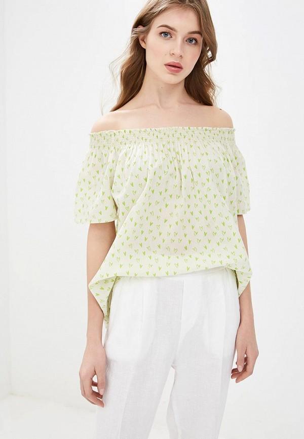 женская блузка united colors of benetton, бежевая