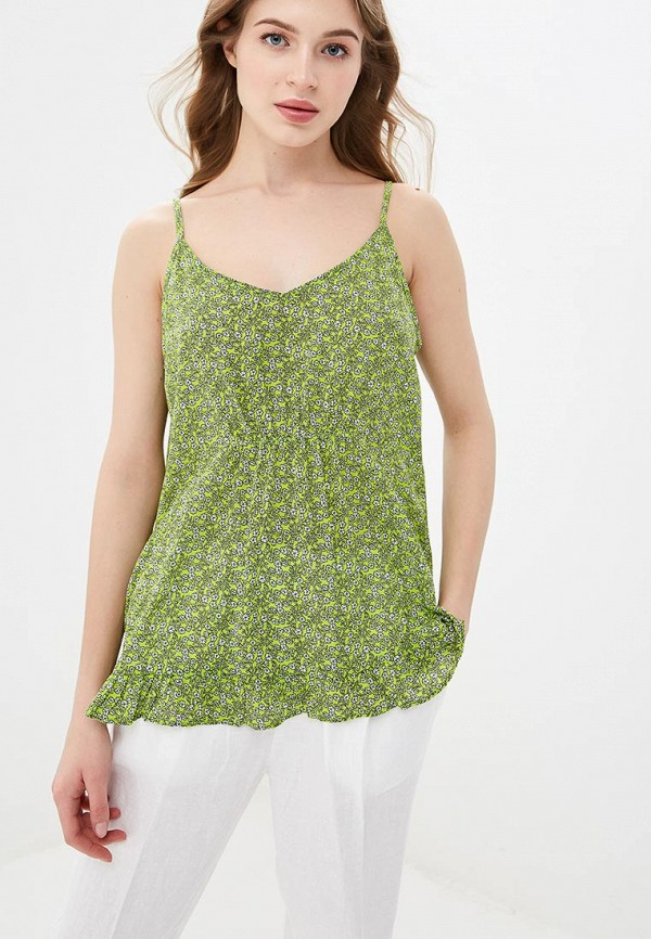 женский топ united colors of benetton, зеленый