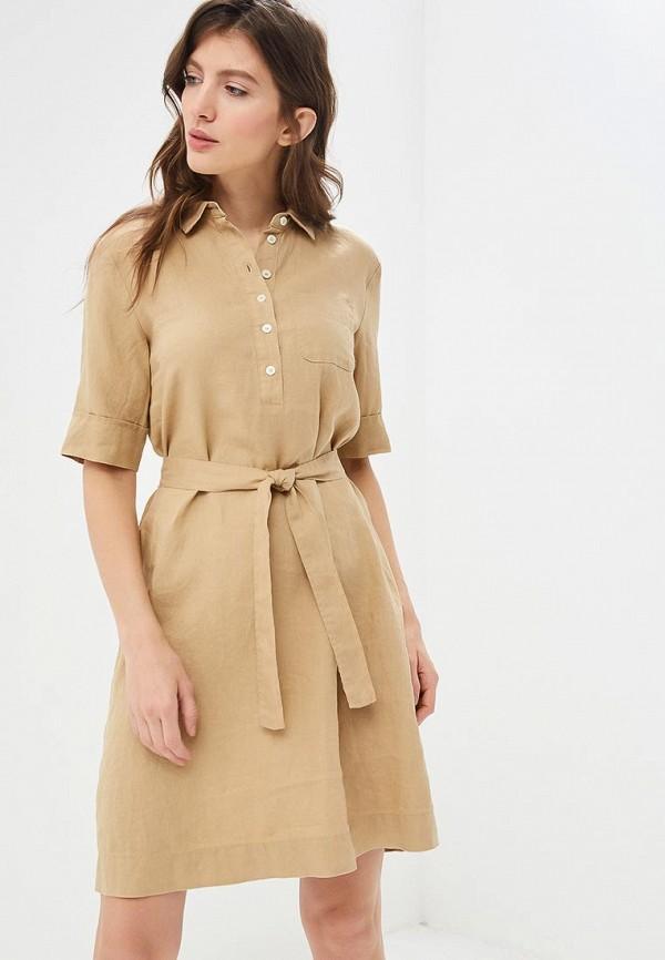 женское повседневные платье united colors of benetton, бежевое