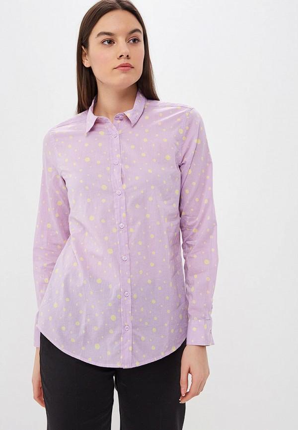 женская рубашка с длинным рукавом united colors of benetton, фиолетовая