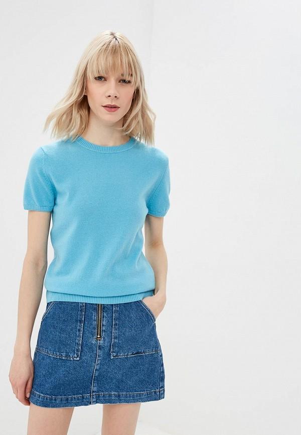женский джемпер united colors of benetton, голубой